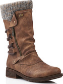 Remonte - BROWN TALL SIDE ZIP BOOT
