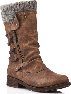 Remonte - D8070-25 - BROWN TALL SIDE ZIP BOOT