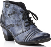 Remonte - GREY/BLUE HEELED ANKLE BOOT