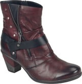 Remonte - RED BOOT WITH HEEL