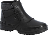Rieker - BLACK SIDE ZIP WARM LINED BOOT
