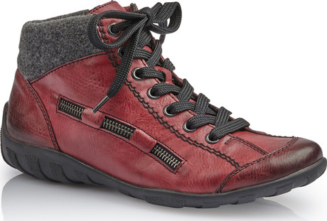 Rieker - L6543-35 - RED LACE UP ANKLE BOOT