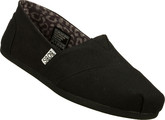Soft Woven Skechers Canvas Bobs Peace and Love Black Casual Boots
