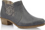 NAVY PULL ON ANKLE BOOT