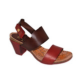LADIES SANDAL RED/BROWN