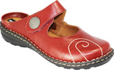 Comfortable Red Romika Melissa Women's Mules