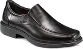 Ecco Helsinki Slip On Black Leather Boots