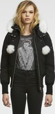 Moose Knuckles - DEBBIE BOMBER BLACK-NATURAL