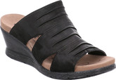 Nevis 02 Black Wedge with Comfortable Footbed from Romika