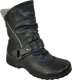 Vangelo - OY7431-BLACK - SHORT FLAT SIDE ZIP BOOT