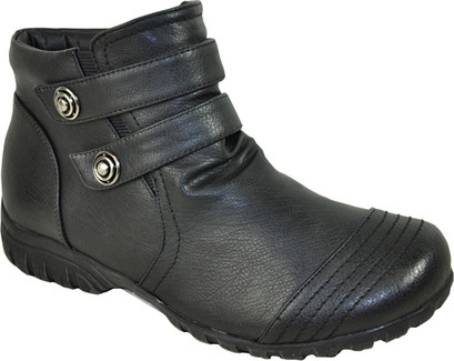 Vangelo - OY7432-BLACK - SHORT 2 STRAP BOOT
