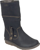 Remonte - BLACK BOOT W/ FOLD DOWN TOP
