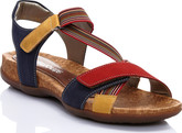 Remonte - SANDAL RED/BLUE/YELLOW