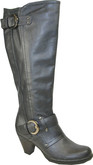 Gorgeous Style Tall 2 Buckle Heeled Boots from Vangelo