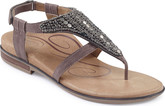 Fashionable Aetrex Sheila Stone Thong Sandals for Summer Season