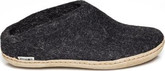 Glerups - WOOL FELT CLOG LEATHER SOLE