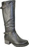 Vangelo's Tall 2 Buckle Riding Boots with An Instep Zipper