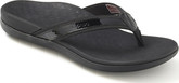 Comfortable Vionic Flip Flop Sandals Featuring Leather Trim