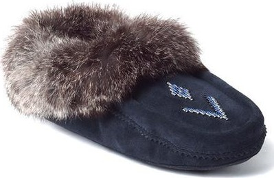 Comfortable and Stylish Manitobah Mukluks Beaded Suede Moccasin