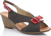 Rieker - BLACK SLING BACK W/RED BOW