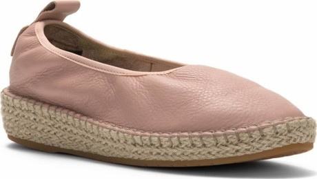 Cole Haan - CLOUDFEEL ESPADRILLE MAHOGONY ROSE LEATHER NATURAL PINK
