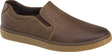 WALLACE SLIP ON BROWN OILED - Quarks Shoes