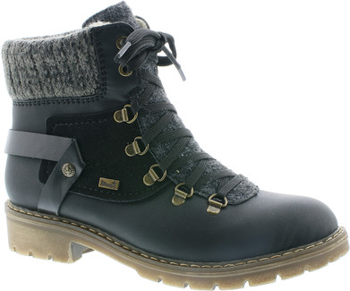 Rieker - Y9143-01 - BLACK LACE UP HIKER