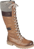 Rieker - TALL TAN LACE UP BOOT