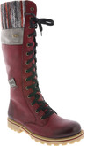 Rieker - TALL RED LACE UP BOOT
