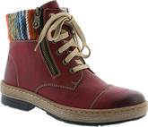 Rieker - RED LACE UP BOOT