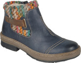 Rieker - NAVY SHORT BOOT W/SWEATER CUFF