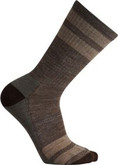 Smartwool - STRIPED HIKE LT CREW TAUPE