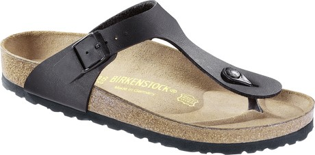 Buy Birkenstock Gizeh Birko-Flor Sandals in Black