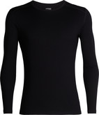 Ice Breaker - MENS 260 TECH LS CREWE BLACK