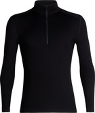 Ice Breaker - MENS 260 TECH LS HALF ZIP BLAC