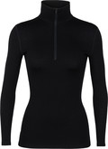 Ice Breaker - WOMENS 260 TECH LS HALF ZIP BL