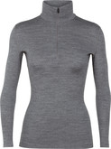 Ice Breaker - WOMENS 260 TECH LS HALF ZIP GR