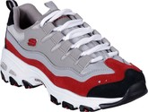 Skechers - D'LITES SURE THING GREY/RED