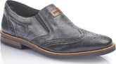 Rieker - NAVY BROGUE SLIP ON