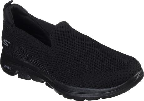 GO WALK 5 PRIZED BLACK - Quarks Shoes