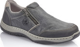 Rieker - BLACK DOUBLE ZZIP SLIP ON