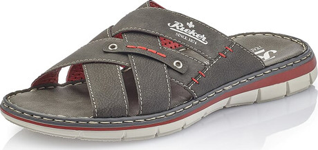 Rieker - GREY SLIDE SANDAL