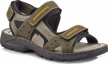 Rieker - MENS SANDAL GREEN GREY BLACK