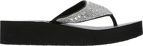 ecceef207 Skechers - VINYASA TIGER SQUAD BLACK. Comfort meets sparkles! Complete your  summer look with this yoga foam comfor footbed!