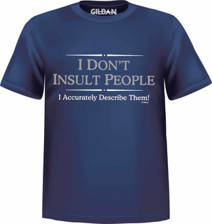 Woods Clothing Co. - T-SHIRT I DON'T INSULT PEOPLE
