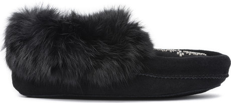 Manitobah Mukluks - MINI MOCCASIN BLACK YOUTH