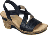 Rieker - BLACK CRISSCROSS WEDGE SANDAL