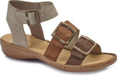 Rieker - 3 BUCKLE BROWN SANDAL
