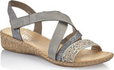 Rieker - GREY STUDDED CRISS CROSS SANDA