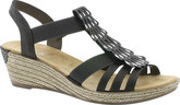 Rieker - GREY WEDGE SANDAL